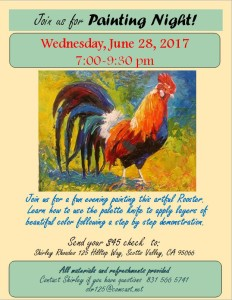 Painting Night with Shirley June 2017