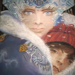 """The Snow Queen"" by Vladyslav Yerko Recreated by Shirley Lehner-Rhoades"