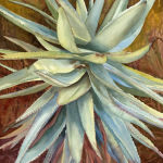 Aloe Vera Original Watercolor by Shirley Lehner-Rhoades