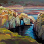 Point Lobos - Original oil painting by Shirley Lehner-Rhoades