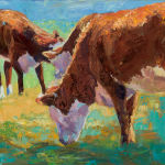 Grazing Cows by Shirley Lehner-Rhoades